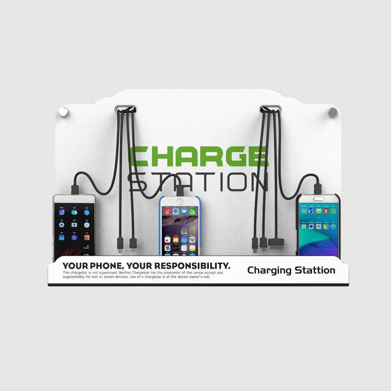 Best Wall Mounted Cell Phone Charging Station W/ 8 Universal Charging Tips  Included For All Devices: Iphone, Ipad, Samsung Galaxy, Note Tablets, ...