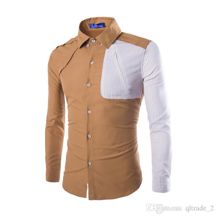 2016 스톰 맞춤법 비즈니스 셔츠 긴팔 셔츠 남성 셔츠 긴 소매 슬림 피트 드레스 셔츠