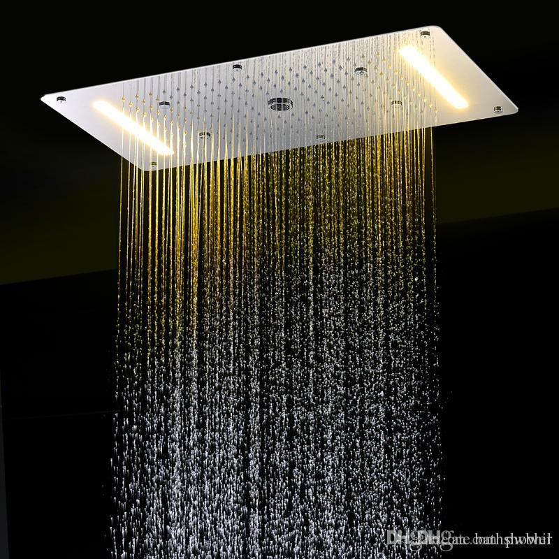 Superior Wholesale Multi Function 380*700mm Rainfall,Waterfall,Mist Fall And Water  Column Embeded Ceiling Mounted Led Rain Shower Head By Pwbhil Under $866.38  ...