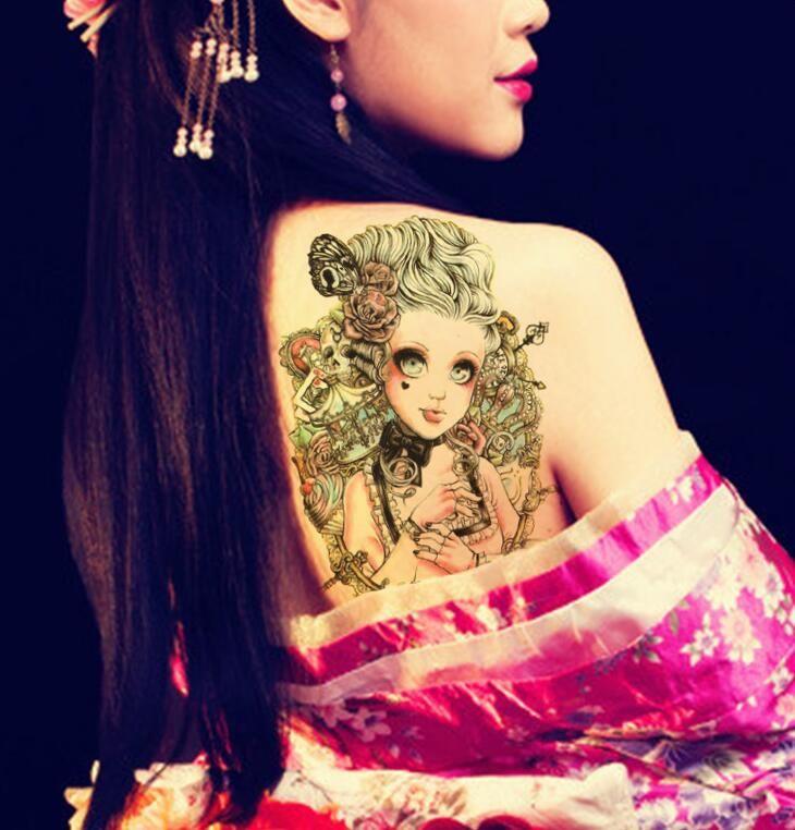 15 * 21 cm Wasserdichte Tattoo Aufkleber Coole Mode Schädel Temporäre Tattoo Arm Bein Körper Kunst Make-Up Haut Schönheit geschenk Dhl-freies