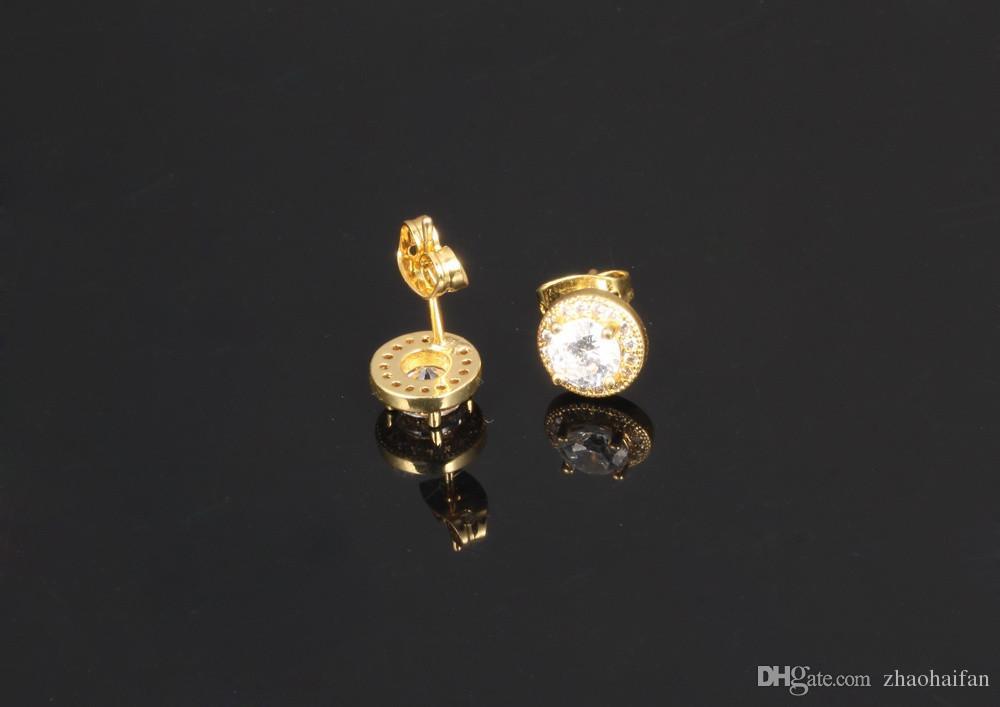Boucles d'oreilles en acier inoxydable blanc cristal gros stud boucles d'oreilles pour les femmes bijoux 18K or boucles d'oreilles en gros KE636