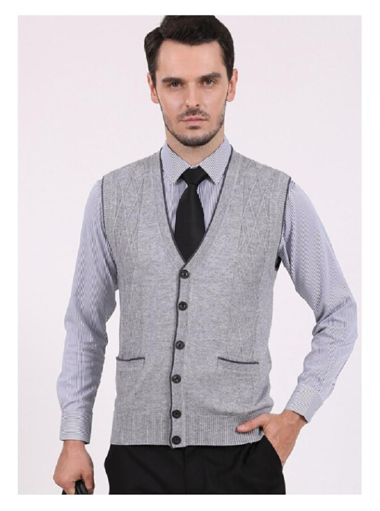 2018 Mens Spring Slim Fit Stylish Button Up Cardigan Wool Casual ...