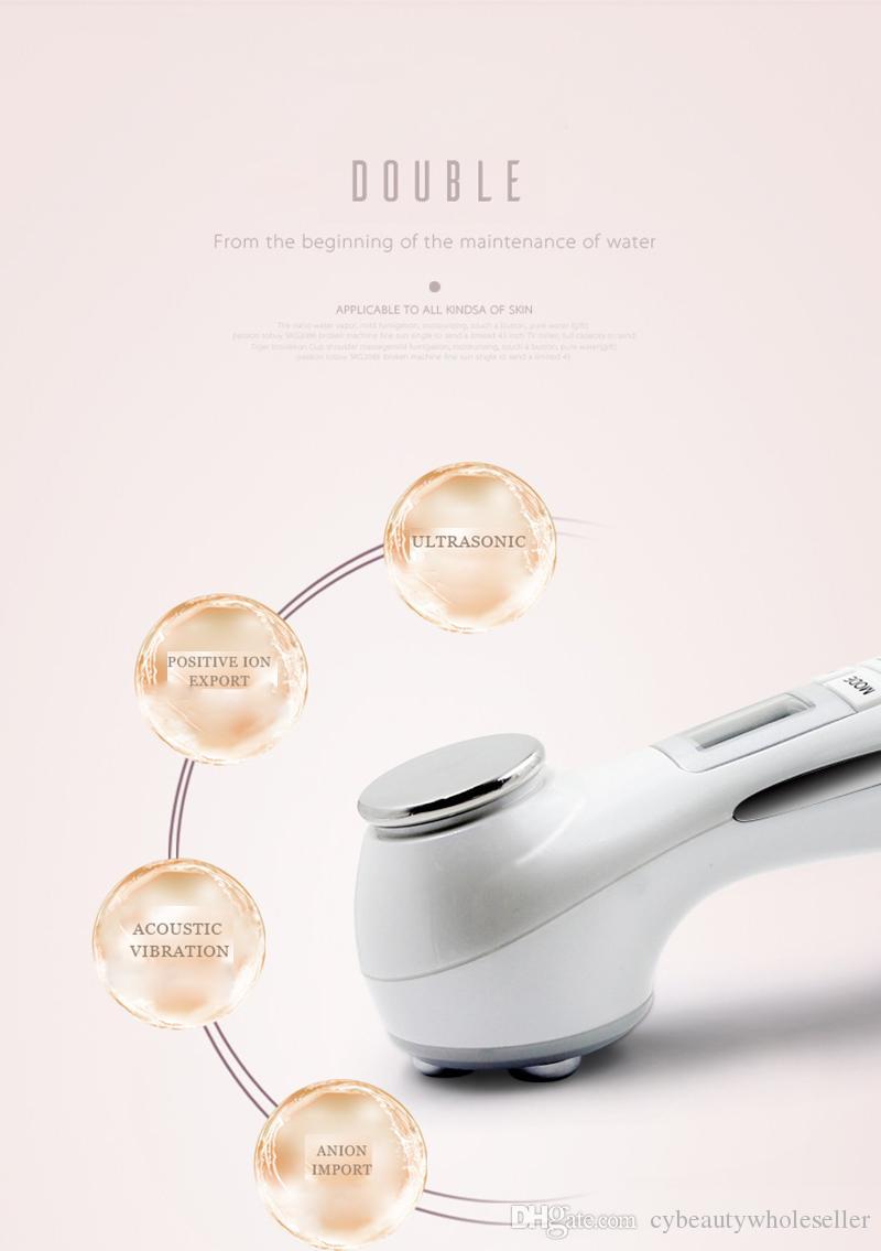 NUOVO doppio facciale del dispositivo ultrasonico di bellezza del viso del dispositivo della pelle dello smalto del dispositivo LED di bellezza di rf anti-invecchiamento