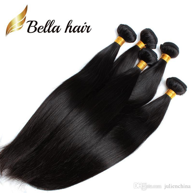 미국에만 해당 가장 저렴한 브레이드 기증자 머리카락 100 인도 인간의 머리카락 확장 12-14-16-18-20-22-24 흑인 여성용 벨라 헤어 3 / 4 / 로트 당