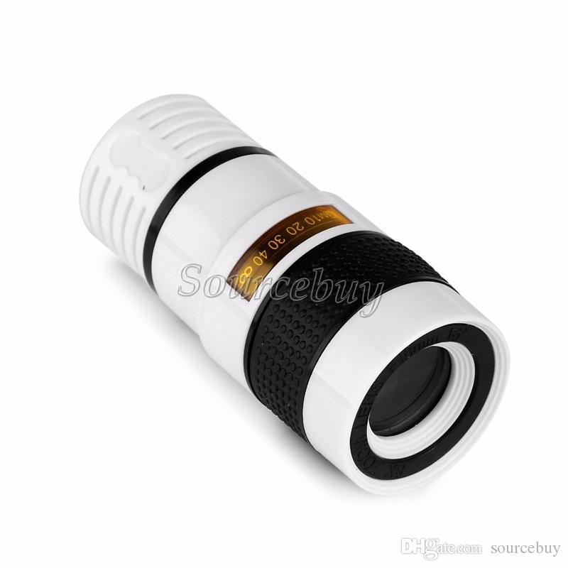 Telescópio do telefone móvel 8x ampliador lentes de aumento da lente da câmera telefoto óptico para iphone samsung galaxy htc varejo pacote dhl
