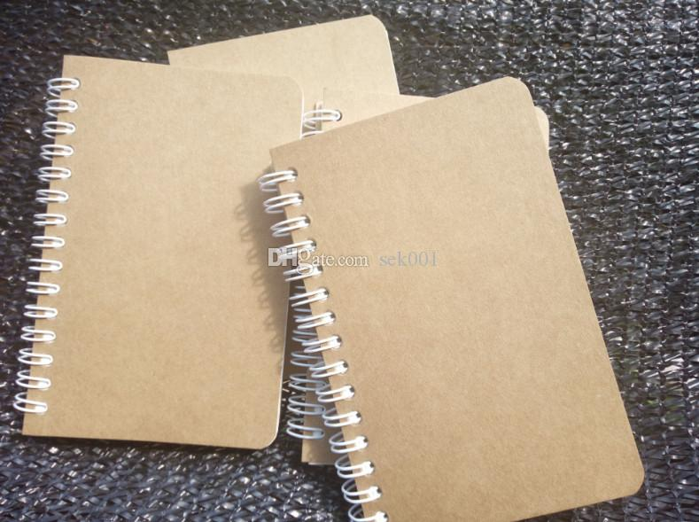 2018 9*14cm Smiple Style Kraft Coil Notepads With Blank/Lined Page ...