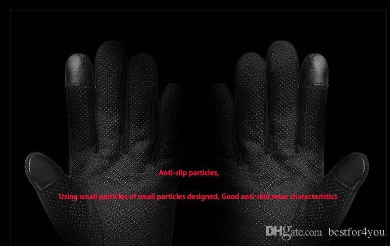 DHL long leather glove fashion outdoor anti- skid sports waterproof Windproof and warm motorcycle Finger Gloves