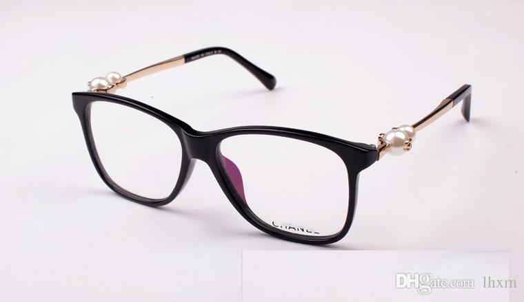 perla piatta grande cornice specchio temperamentale e lo stile femminile della montatura occhiali miopia lato artistico femminile