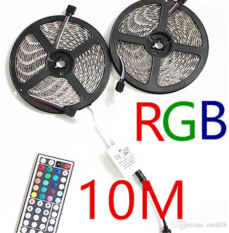 Dhl Holiday Light Waterproof Led Strips 5m Set 3528/5050 Led Strip Red  Green White Rgb Flexible 300 Leds 12v 44keys Ir Remote Controller Dimmable Led  Strip ...
