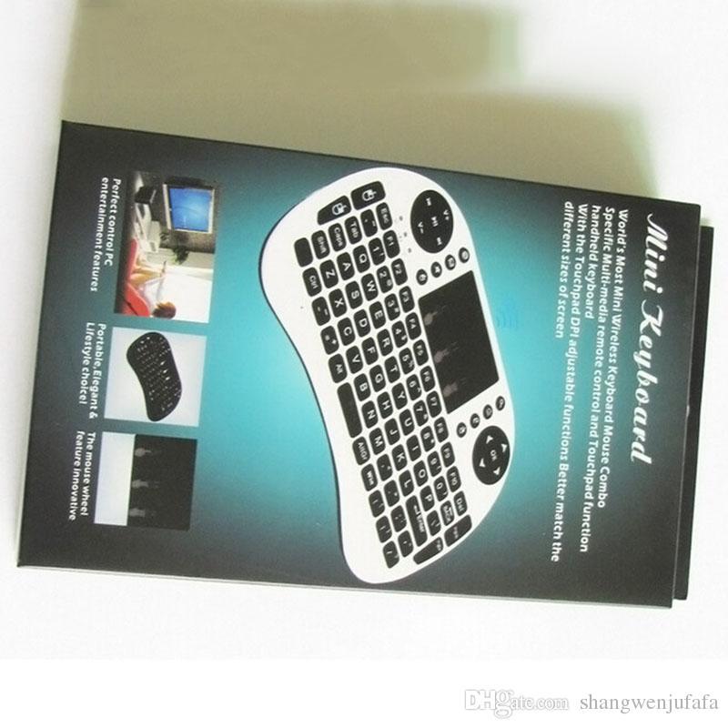 Rii Mini i8 Kablosuz Klavye Touch Pad Ile Arka Fly Air Fare Mini Kablosuz Fare Uzaktan G Algılama Jiroskop Sensörü Android TV Için