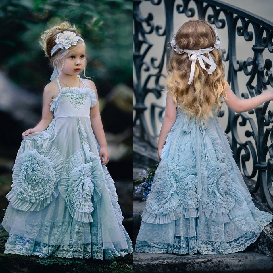 ec65b6b1070 2016 Dollcake Flower Girl Dresses Special Occasion For Weddings Ruffled  Kids Pageant Gowns Flowers Floor Length Lace Party Communion Dress Used  Flower Girl ...