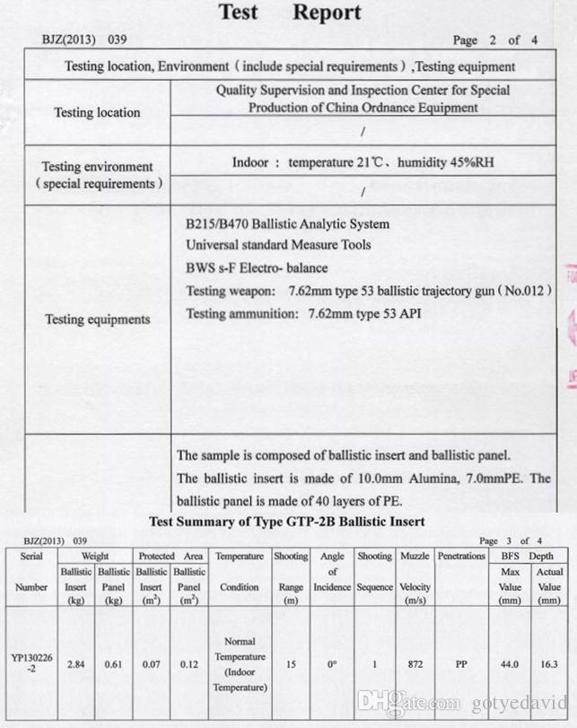 NIJ Level IV ICW Al2O3 + PE Пуленепробиваемая плита, Бронежилет, Баллистическая плита
