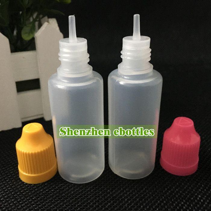 botellas al por mayor buena calidad 20ml botella de plástico vacía Botellas Liquid E plástica del cuentagotas con el niño tapas a prueba y puntas de aguja
