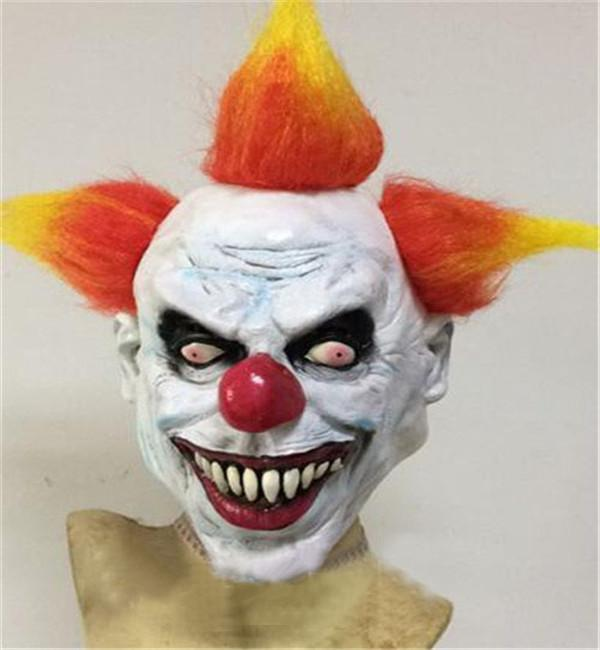 Wholesale New Scary Clown Mask Devil Buck teeth Full Face Horror Masquerade Adult Ghost sk Scary Blood Face Zombie Halloween Mask Party Prop