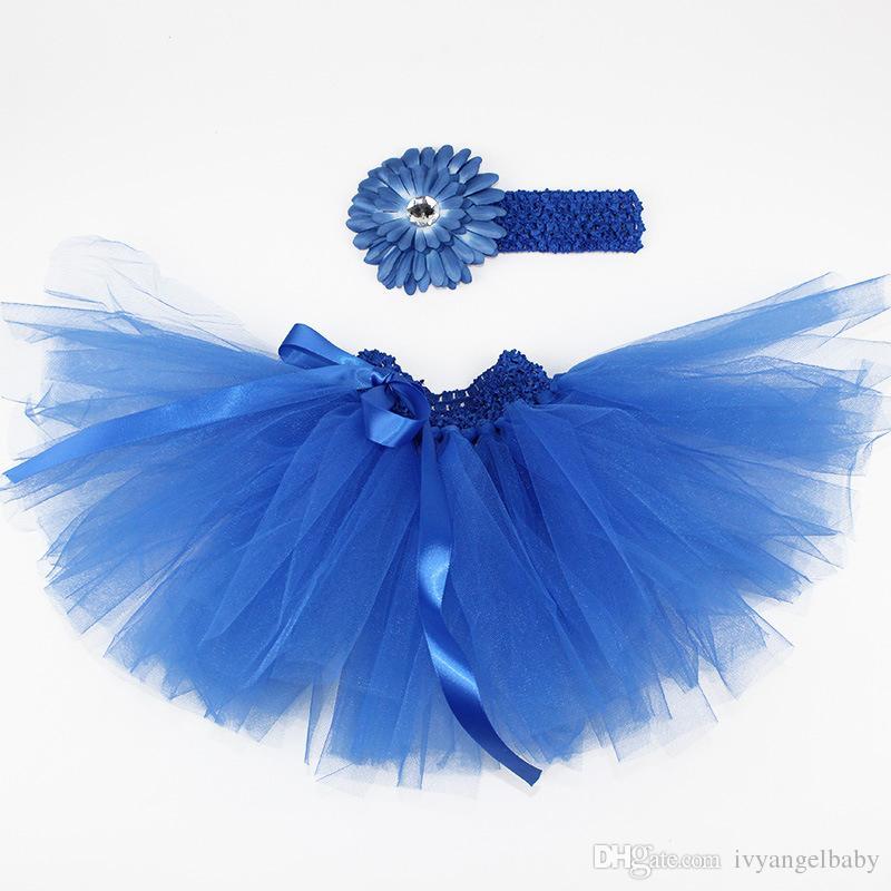 Gonna bambina Multi Strati Organza Tutu Fascia capelli con cravatta Free Photo Prop Outfit Dress i