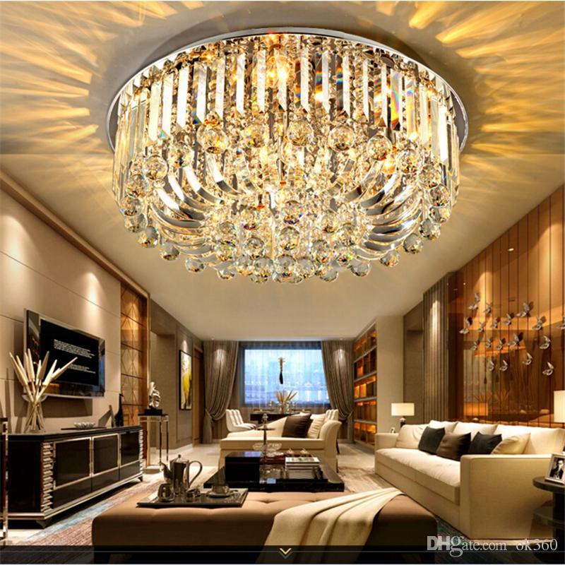 2018 High Quality New Modern K9 Crystal Led Chandelier Ceiling Light 50cm 60cm 80cm Pendant Lamp Home Lighting Fixtures For Living Room Bedroom From Ok360
