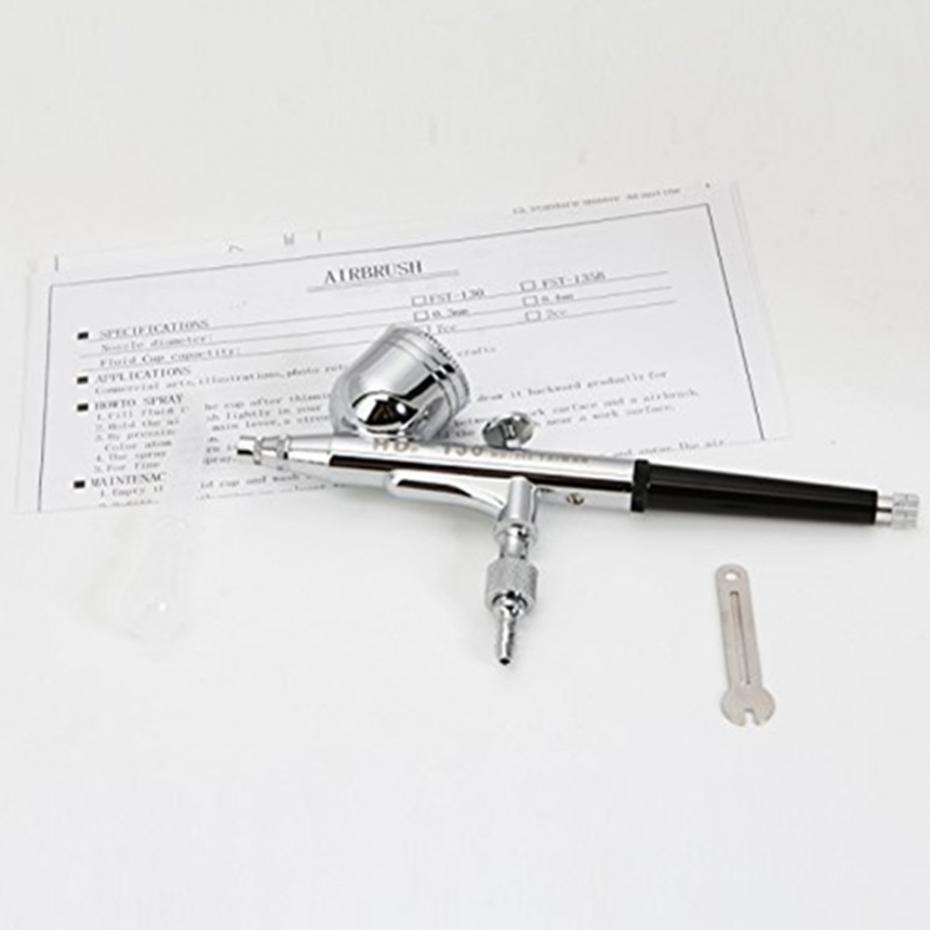 Реальный блеск татуировки 0.3 7CC Airbrush набор 130 воздушной щеткой распылительной пистолетной комплект для ногтей арт живопись с 2 шаблоном ногтей PSC