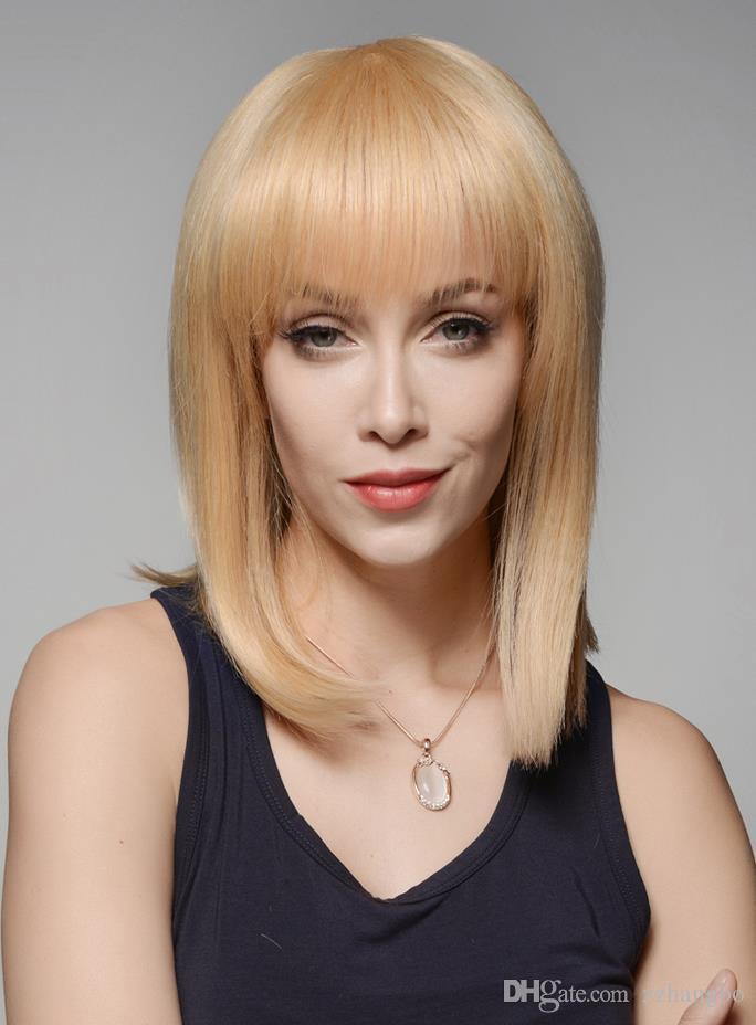 22 # Volle Spitzeperücke seide 5,5 * 5,5 Blonde Natürliche Welle Menschliches Jungfrau-haar 100% Afroamerikaner Babyhaar 150% Dichte Berrys Haarperücken Kabell