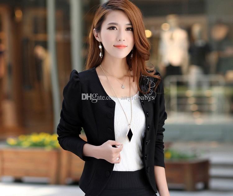 Nouveau printemps automne femmes veste manteau de mode vestes de base blaser femme slim costumes courts femmes manteaux