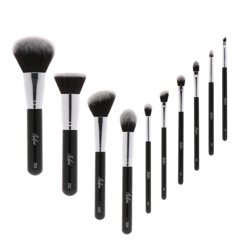 Sylyne Professional Makeup Brush Set High Quality Makeup Brushes Classic Black Handle Soft Hair Make Up Brushes Kit Tools Nail Art Brushes Blush Brush From ...