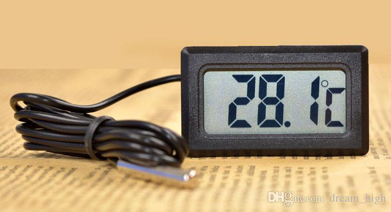 New LCD Termômetro Digital para Freezer temperatura -50 ~ 110 graus Frigorífico Frigorífico termômetro utensílios de cozinha grátis