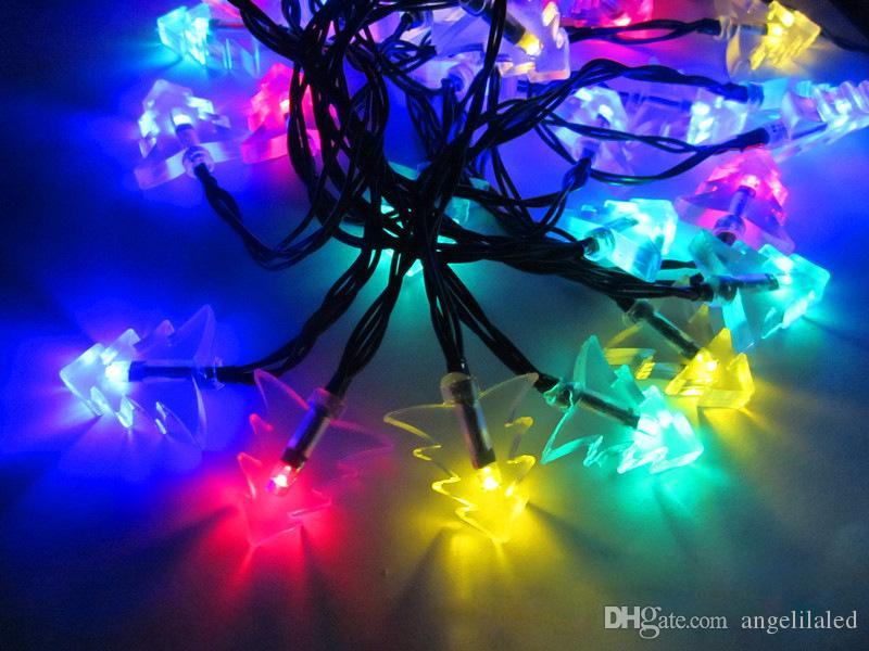 led solar strings light outdoor led christmas tree lights battery operated fairy lights led decoration light for wedding party paper string lights green