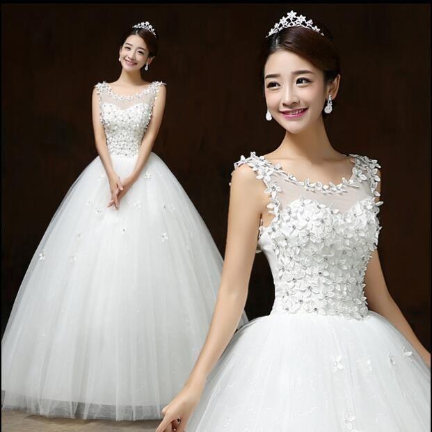 New Design Wedding Gowns: 2016 New Wedding Dresses White Bride Wedding Frocks