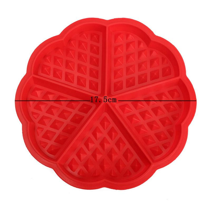 Family Silicone Waffle Mold Maker Pan Microwave Baking Cookie Cake Muffin Bakeware Cooking Tools Kitchen Accessories Supplies TT178