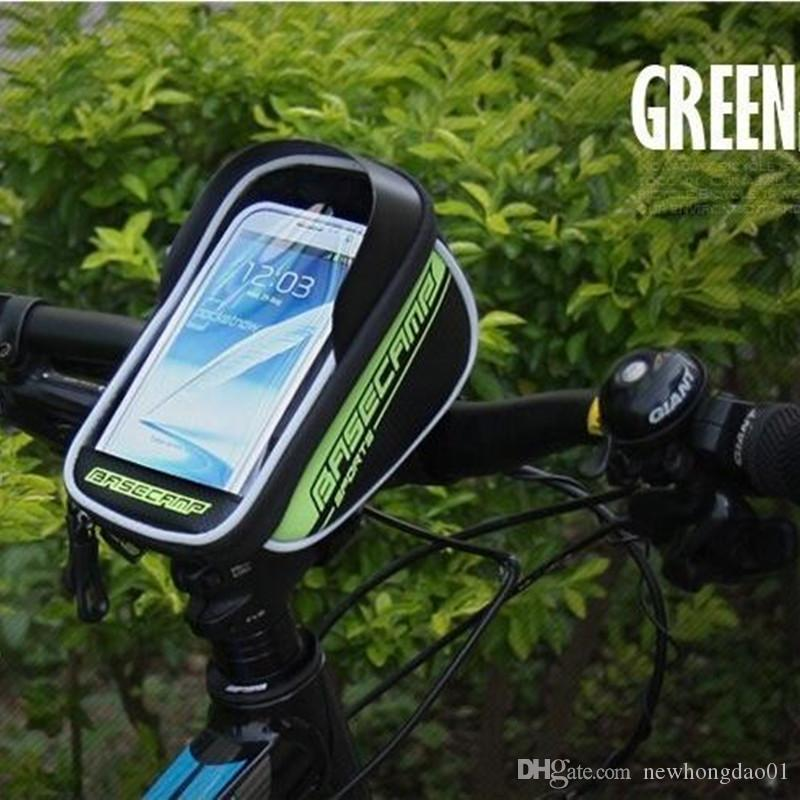 5.8 inch Waterproof Bicycle Phone Bag Mountain Bike Bags/Packet Panniers Mobile Phones Pouch for Iphone6 Plus Galaxy S6 Edge+
