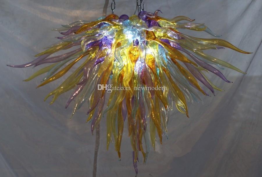 Livraison Gratuite CE / UL bouche Soufflé Dale Chihuly Art En Verre Borosilicate Multi Couleur Murano Verre Lampes