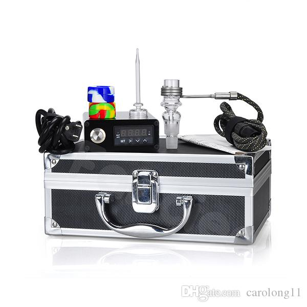E Dab Nail Quartz Nail Electric Dab Nail Box Complete Kit with Temperature Controller 100w for Rig Oil Glass Bongs water pipe