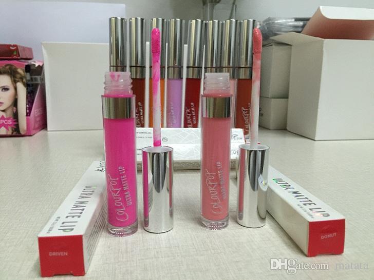 stocking !! Colour Pop Ultra Matte velvety Liquid Lipstick Matte liquid Lipgloss lax vice succulent zipper Waterproof Lip Gloss