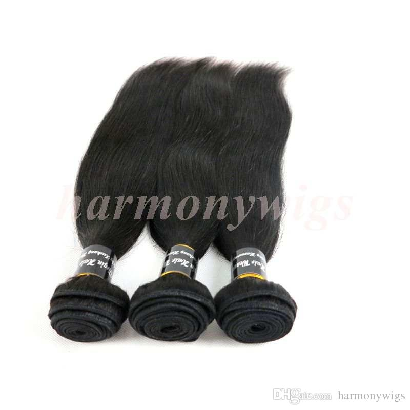 Virgin Human Hair Wefts Brazilian Hair Bundles Weaves 8-34Inch Unprocessed Mongolian Peruvian Indian Malaysian Weaving Hair Extensions
