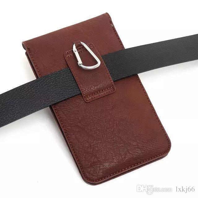 Custodia in pelle a tracolla orizzontale Custodia a clip orizzontale Custodia a tracolla esterno Custodia a vita iP 6 6s Plus Sam Galaxy Note 3 4 altri 5