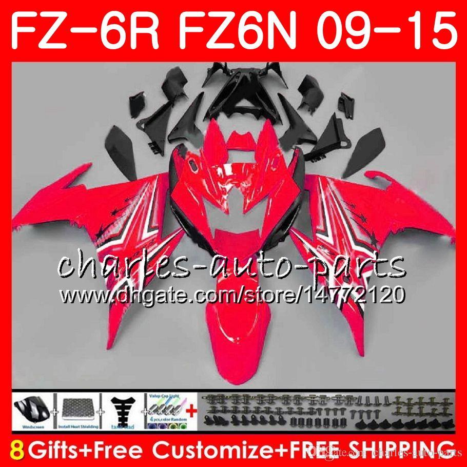 Body For YAMAHA FZ6N FZ-6N FZ6R 2009 2010 2011 2012 2013 2014 2015 glossy red 82NO46 FZ-6R FZ6 R FZ 6N FZ 6R 09 10 11 12 13 14 15 Fairing