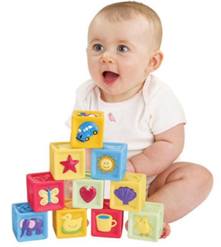 Building Toys For Babies : Set baby blocks toys non toxic soft plastic cartoon cube