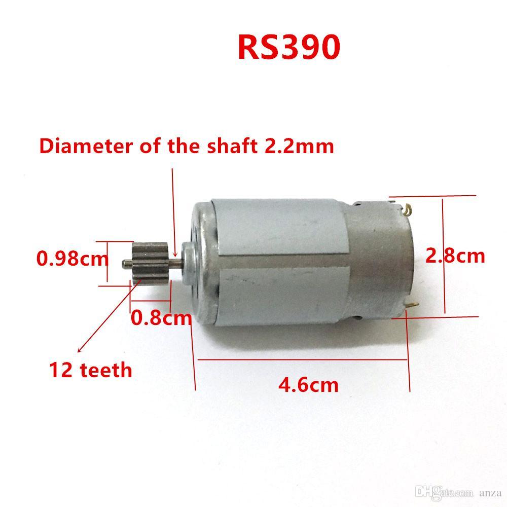 Motor elétrico do carro de controle remoto do carro das crianças 12V DC, motor elétrico da motocicleta 6v do miúdo, motor de 570 550 380 390