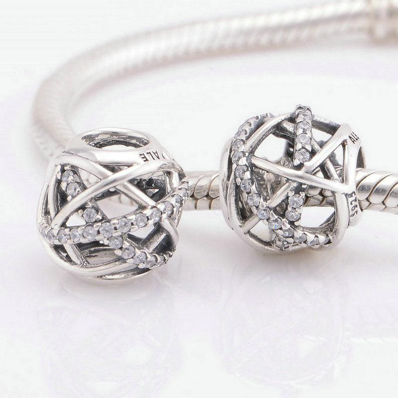 Europäischer Charme des Sterlingsilbers S925 der Qualitätsrhinestone passt DIY Armband und Halskette heißer Verkauf LW413 des Verschiffens