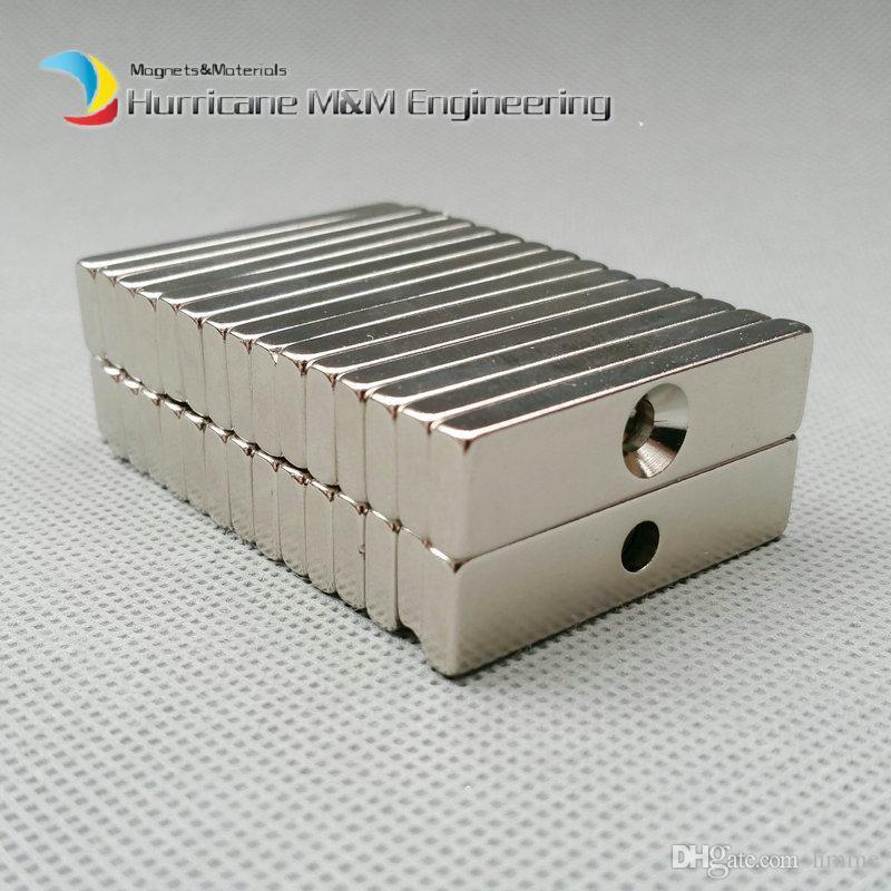 NdFeB Fix Magnet 40x10x4mm with M5 Screw Countersunk Hole Block N42 Neodymium Rare Earth Permanent Magnet