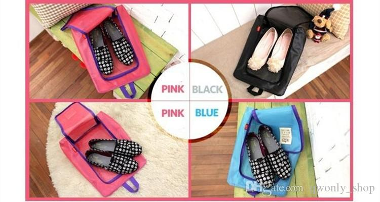 Calzado de viaje Organizador de almacenamiento Canasta impermeable para mujer bolsa de viaje bolso Necesidades elementos Accesorios Suministros Producto Negro / Rosa / Azul