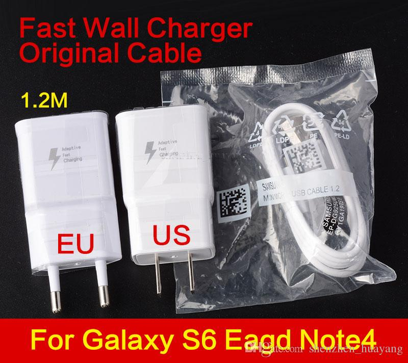 High quality original Fast 5V 2A US EU Plug Wall Charger adapter + 1.2m Micro USB Data Cable For universal smartphone android phone