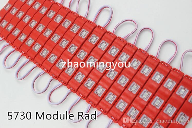 ماء 5730 3 المصابيح حقن صب led وحدة السوبر مشرق بقيادة وحدات الإضاءة الأحمر / الأخضر / الأزرق / الأصفر / الوردي / الدافئة 500 قطع 12 فولت