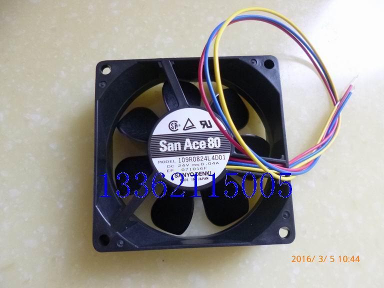 Neue Original 80 * 80 * 25 MM 8 CM 24 V 0,04A 109R0824L4D01 Alarmsignal stille inverter lüfter