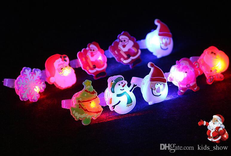Милый мультфильм Рождество Хэллоуин мигающий светодиод загорается желе мягкие кольца кольца фары вспышка светящееся кольцо игрушка