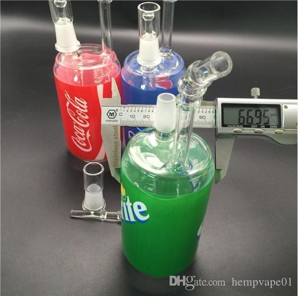 Liquid glass Dab Rigs Glass smoking Bongs Cereal Box Water Pipes Concentrate Rigs Glass pepsi cocacola sprite Hookahs