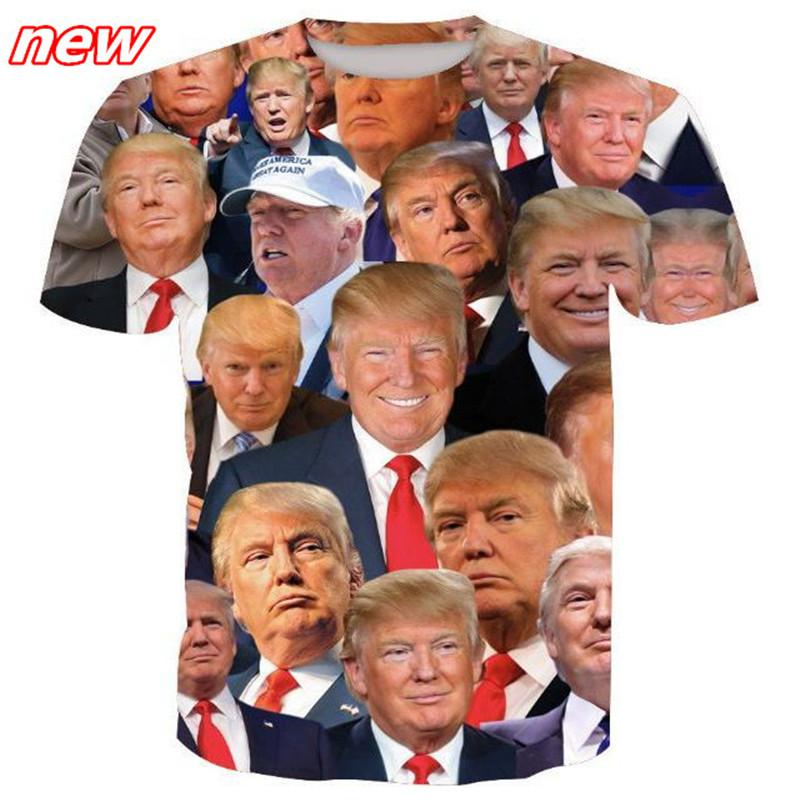 Moda camiseta impresa más el tamaño de la camiseta Donald Trump 3D Camisetas de manga corta Camiseta de verano Camiseta casual ouc2142