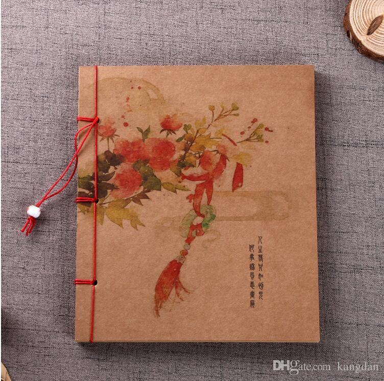 Bloc-notes de style classique classique Journal coloré Couverture Bureau de l'entreprise Journal de voyage Journal en papier kraft Cahier de notes