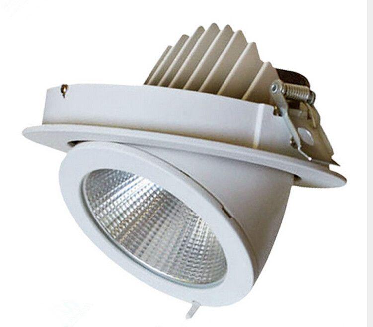 Fábrica de atacado 30W LED Tronco Downlight lâmpada COB teto ajustável recesso Super Bright interior cob luz LED downlight AC85-265V