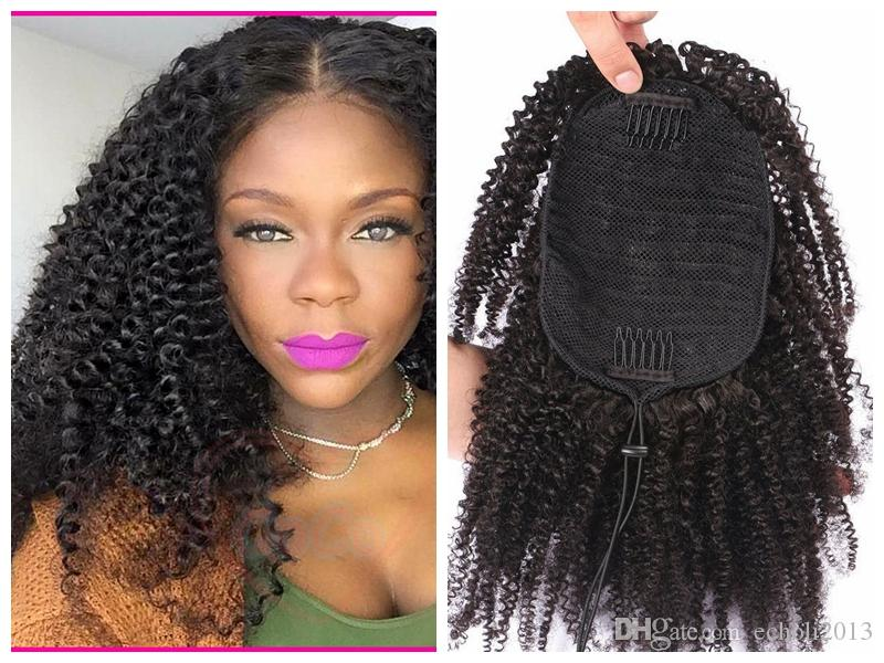 Dora Kinky Curly Human Hair Extension Ponytail Hair Extension