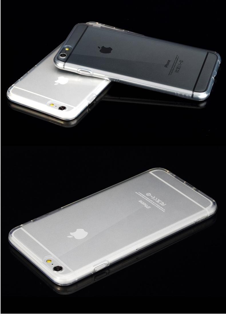 Hot! Ultra Thin 0.5mm TPU Soft Case for iphon 7/ 7plus Clear Crystal Colorful Cellphone Shell Cover